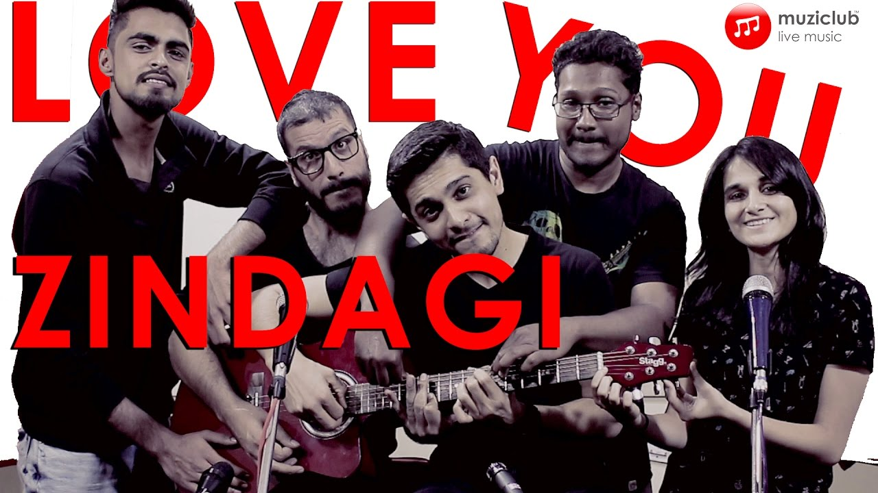 Love You Zindagi (Dear Zindagi) - 5 People 1 Guitar - Muziclub - Learn Music Online with Live ...